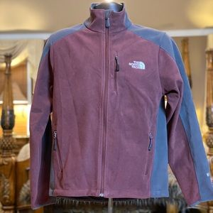 North Face Maroon & Gray Windwall Jacket Size Sm